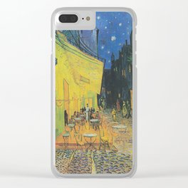 Vincent can Gogh's Cafe Terrace at Night Clear iPhone Case
