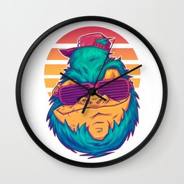 The Abominable Snowdude Wall Clock