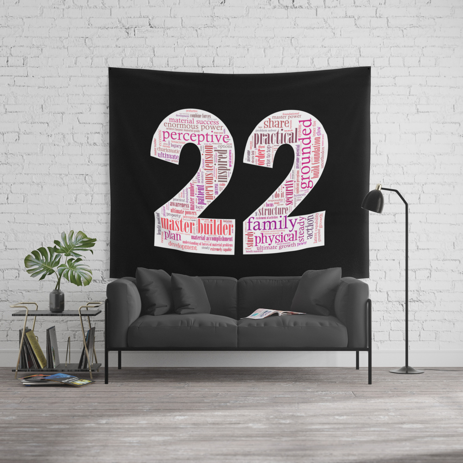 Life Path 22 (black background) Wall Tapestry