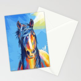 Horse Beauty - colorful animal portrait Stationery Cards