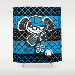 BAD GRACE: Play Ball Shower Curtain