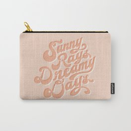 Sunny Rays Dreamy Days Typographic Art - Blush | Alex Gold Studios Carry-All Pouch