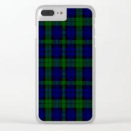 "CAMPBELL CLAN  ""BLACK WATCH"" SCOTTISH  TARTAN DESIGN Clear iPhone Case"