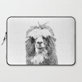 Black and White Alpaca Laptop Sleeve