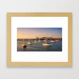 Howth harbour lighthouse - Ireland (RR139) Framed Art Print