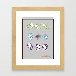 kombinieren Framed Art Print