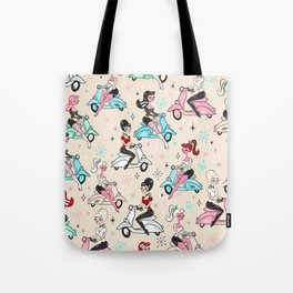 Scooter Girls Pattern Tote Bag