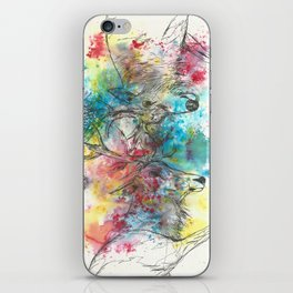 Stag fight iPhone Skin