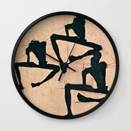 Egon Schiele  -  Composition With Three Male Nudes Wall Clock