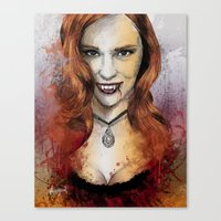 true blood Canvas Prints featuring Oh My Jessica - True Blood by Fresh Doodle - JP Valderrama