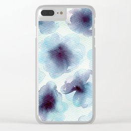 Blue cells Clear iPhone Case
