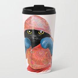Boxing Cat 2  Metal Travel Mug