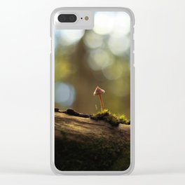 The Lonely Mushroom Clear iPhone Case