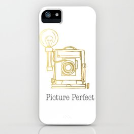 Gold Vintage Camera Picture Perfect  iPhone Case
