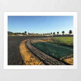 Trackside View Art Print