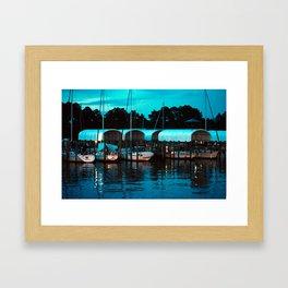 Port St. Joe Marina view 5 Framed Art Print