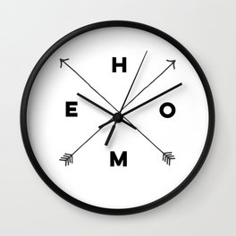 Modern Home Arrow Print Wall Clock