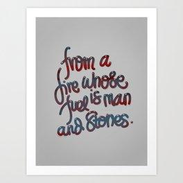 From A Fire Art Print