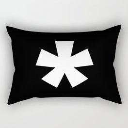Asterisk (White & Black) Rectangular Pillow