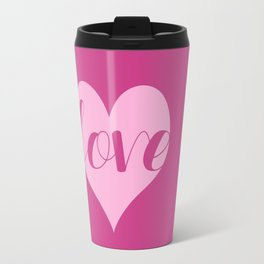 Love in a heart  Travel Mug