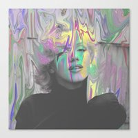 monroe Canvas Prints featuring Monroe by Calepotts