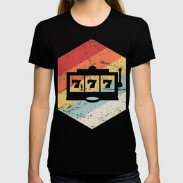 Retro Vintage Slot Machine Icon T-shirt