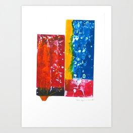 Spark in colours Art Print