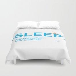 """""""SLEEP"""" Duvet Cover"""