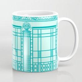 ART DECO, ART NOUVEAU IRONWORK: Blue Green Dream Coffee Mug