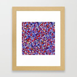 Knitted multicolor pattern 2 Framed Art Print