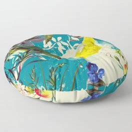 Tropical birds in the nature - 010 Floor Pillow