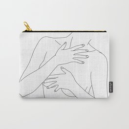 Nude figure line drawing - Ellen Carry-All Pouch