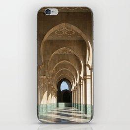 Hassan II Mosque Arcade, Casablanca iPhone Skin