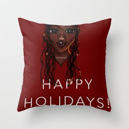 Happy a Holidays Greeting Cards Themes Throw Pillow