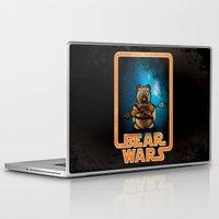 tomb raider Laptop & iPad Skins featuring Bear Wars - Raider by Gingerbear Todd