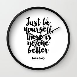 wall art Quote,Swift Quote,Typography Print,Pardon My French,Inspirational Quote,Wall Art,Girls Room Wall Clock