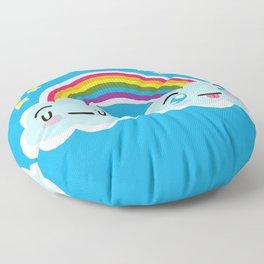 Happy Sappy Rainbow Floor Pillow