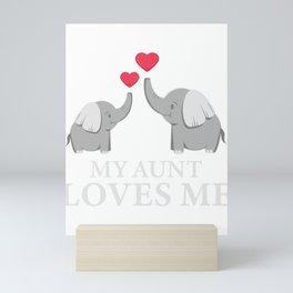 My Best Aunt Loves Me Good Nephew And Elephant Fan Gift Mini Art Print