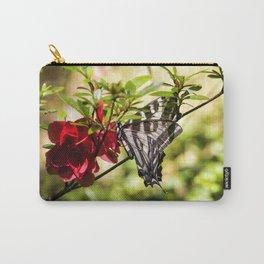 Butterfly on an Azalea Carry-All Pouch