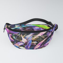 Pink and green leaf Fanny Pack