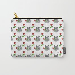 Valentine's Cat Carry-All Pouch
