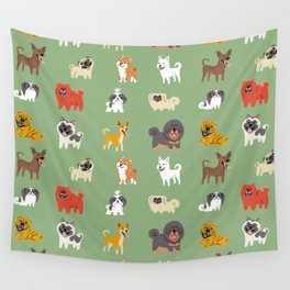 ASIAN DOGS Wall Tapestry