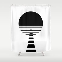 BLACK DAWN Shower Curtain