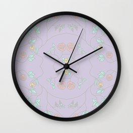 Lavender Garden Floral Wall Clock