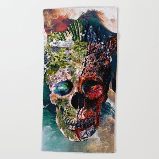 Two Face II Beach Towel