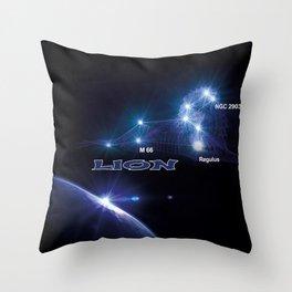 Lion - sign of the zodiac Throw Pillow