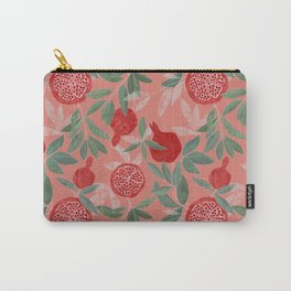 Pomegranate garden on peach pink Carry-All Pouch