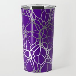 Pattern and Light purple silver Travel Mug