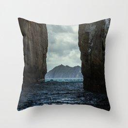 Kicker Rock Galapagos Throw Pillow