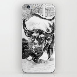 The Charging Bull, In the snow. iPhone Skin